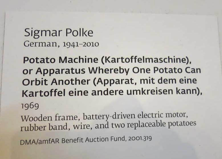 "Just so you don't think I am kidding about the Potato Machine. Glad to learn the two potatoes are ""replaceable."""