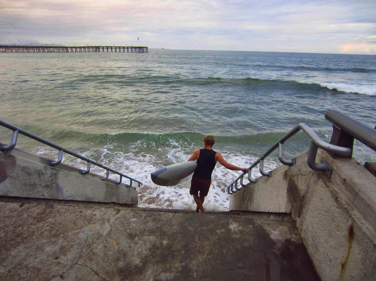 Sunset Paddle. No wetsuit. Tough duuude.