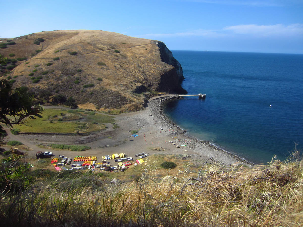 Overlooking the kayak vendors and Scorpion Cove.