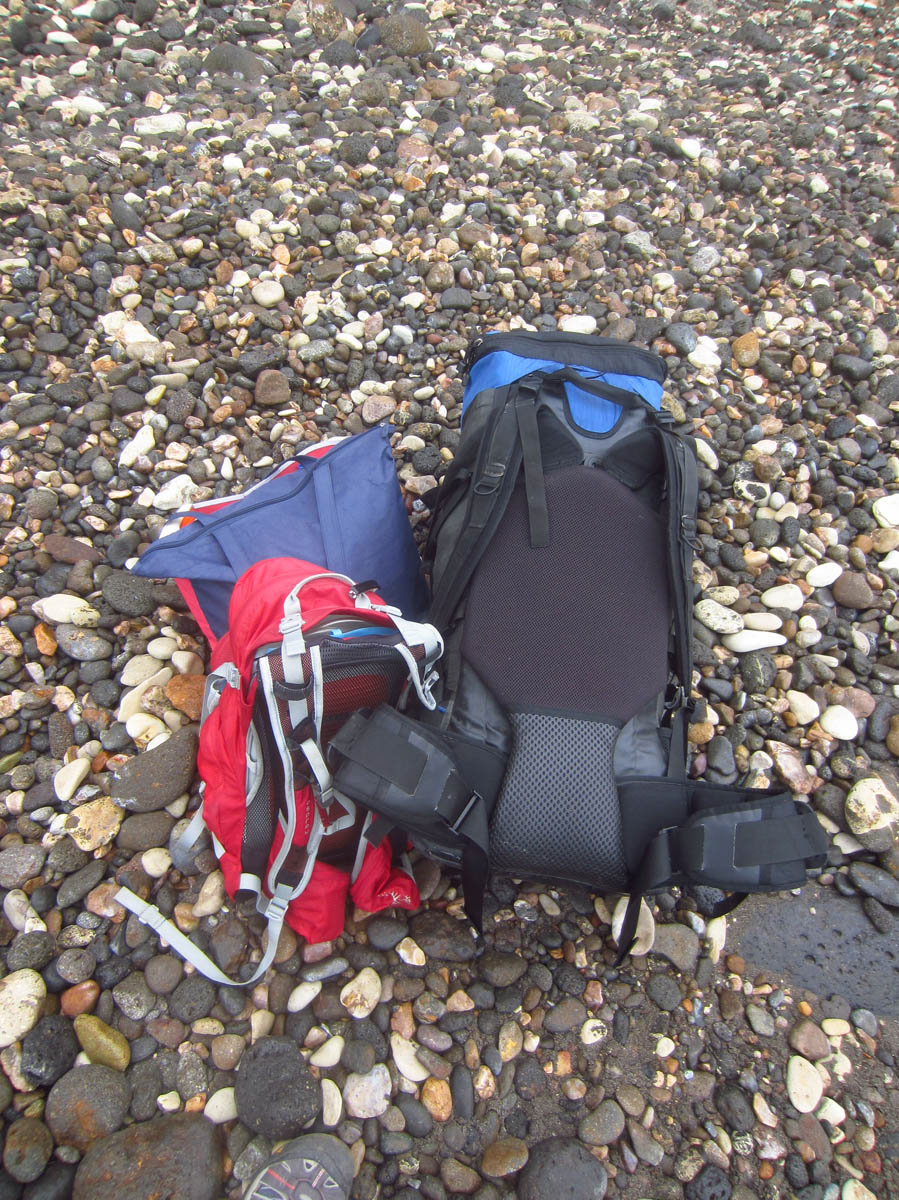 In the end, I have to bring the supplemental bag just for the food, as the backpack is taken up with tent, sleeping bag, camp chair, sleeping pad, and clothing. Gotta get me some smaller gear!