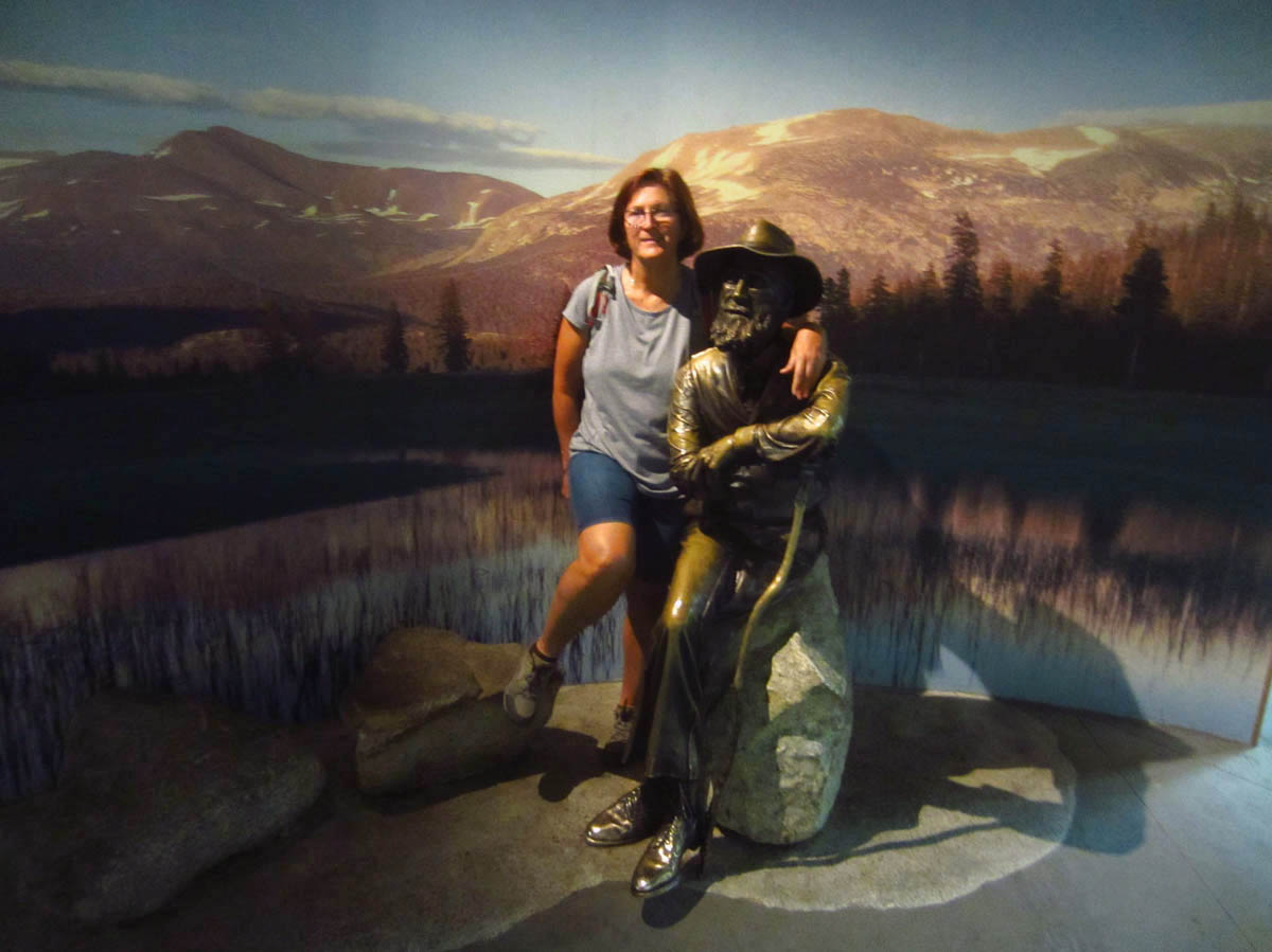 Having a chat with the Scotsman, my old friend John Muir.