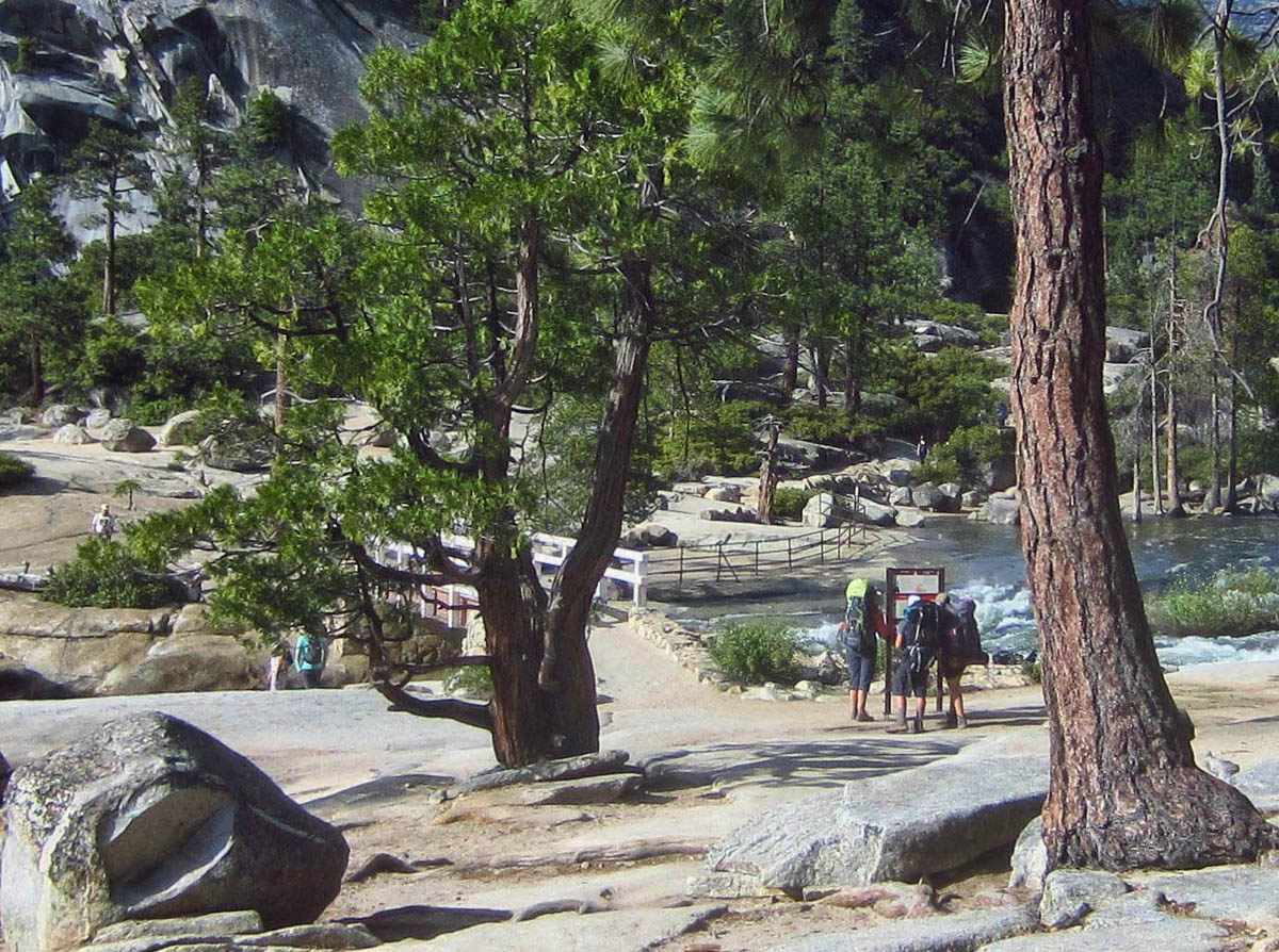 Reaching the top of Nevada Falls where we join up with the John Muir Trail.