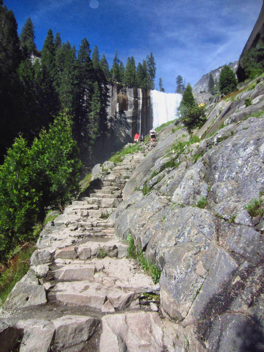 Coming back down the 600 steps of Vernal Falls