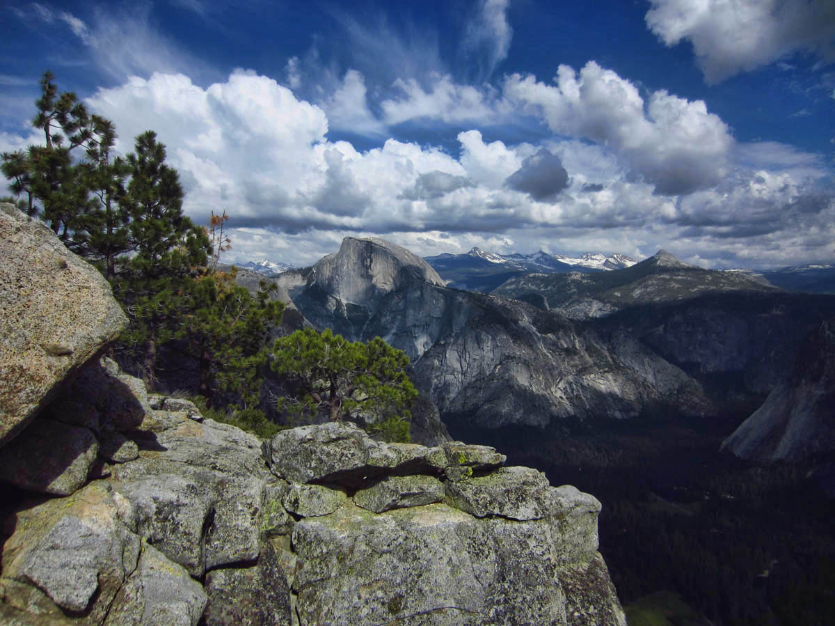 Views of Half Dome and the valley are spectacular from Yosemite Point.