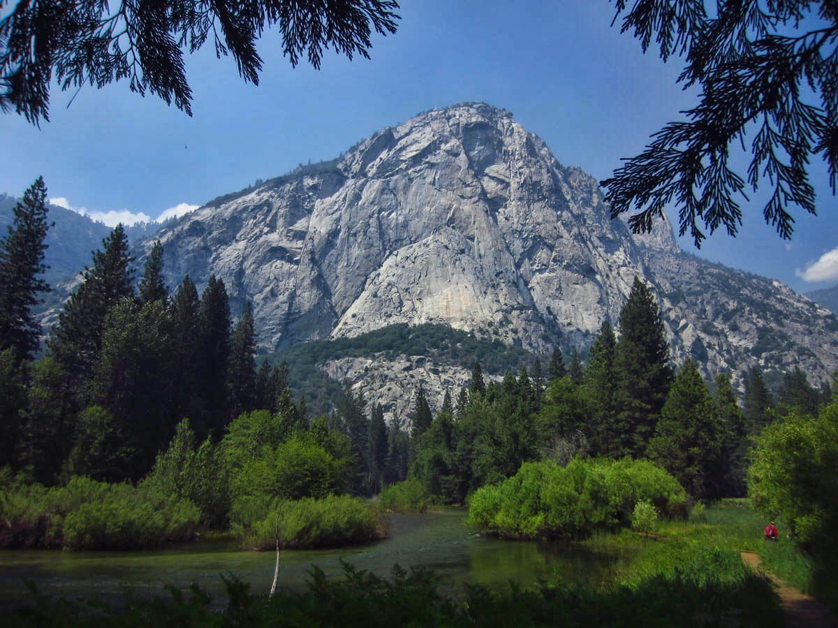 A 1.5 mile hike makes a loop around scenic Zumwalt Meadow on the valley floor of Kings Canyon.