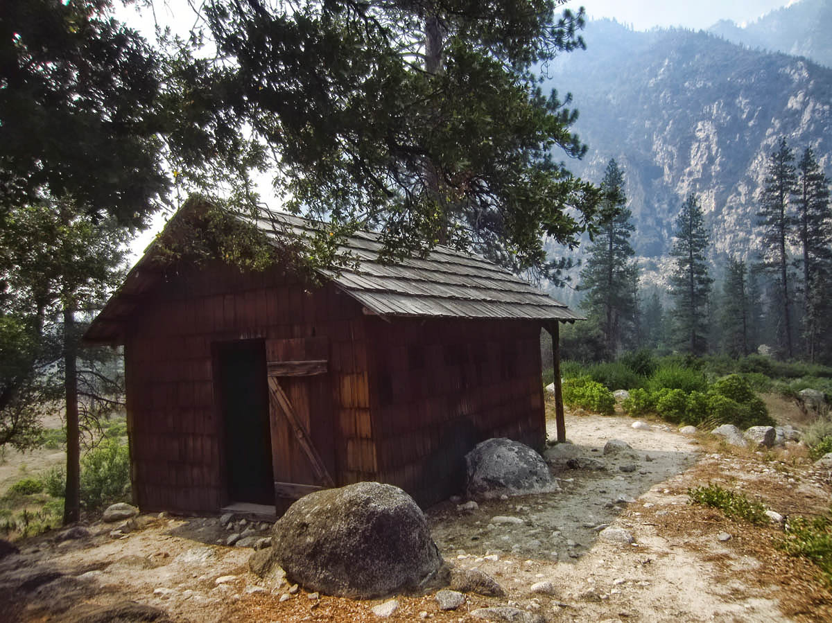 "Knapp Cabin, used by wealthy businessman George Knapp as a storage shed for camping expeditions back in the ""Roaring Twenties."""