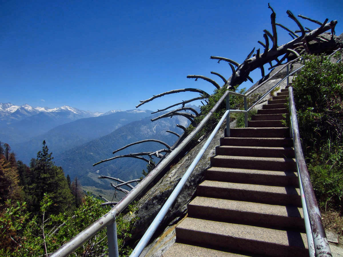 Staircase leading up to Moro Rock.