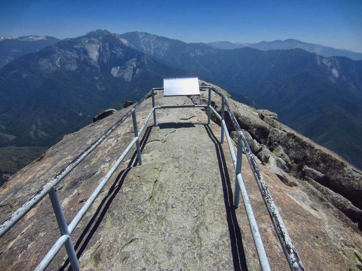 View from the top of Moro Rock.