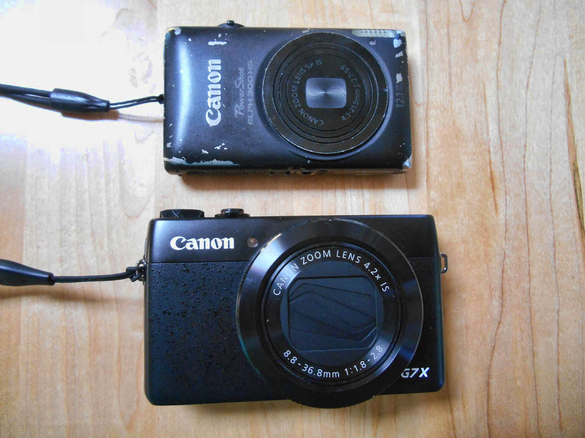 Comparing the new G7X to Canon ELPHie. Not as sleek or stealth, but certainly more robust.