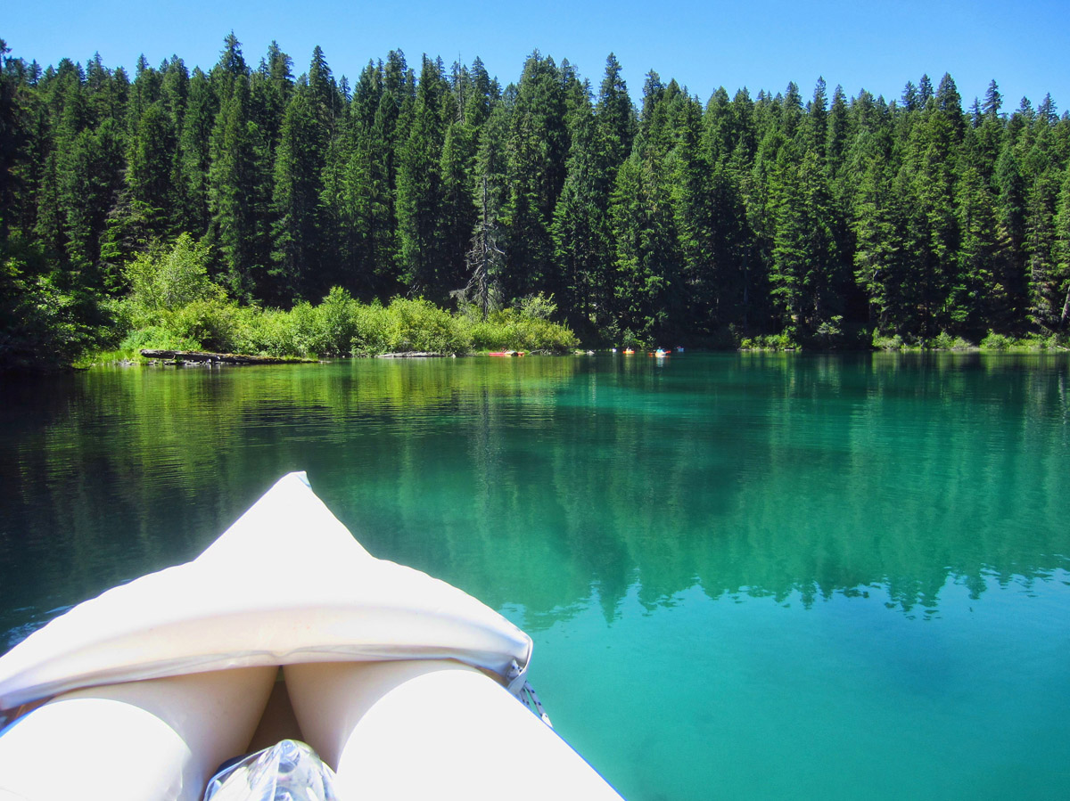 Clear Lake, about 85 miles from Eugene, OR, is the headwaters for the McKenzie River