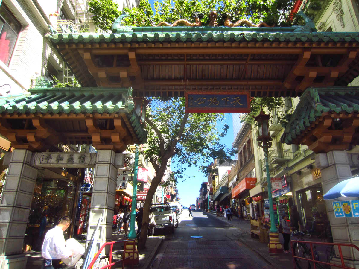 Dragon Gate entry to Chinatown