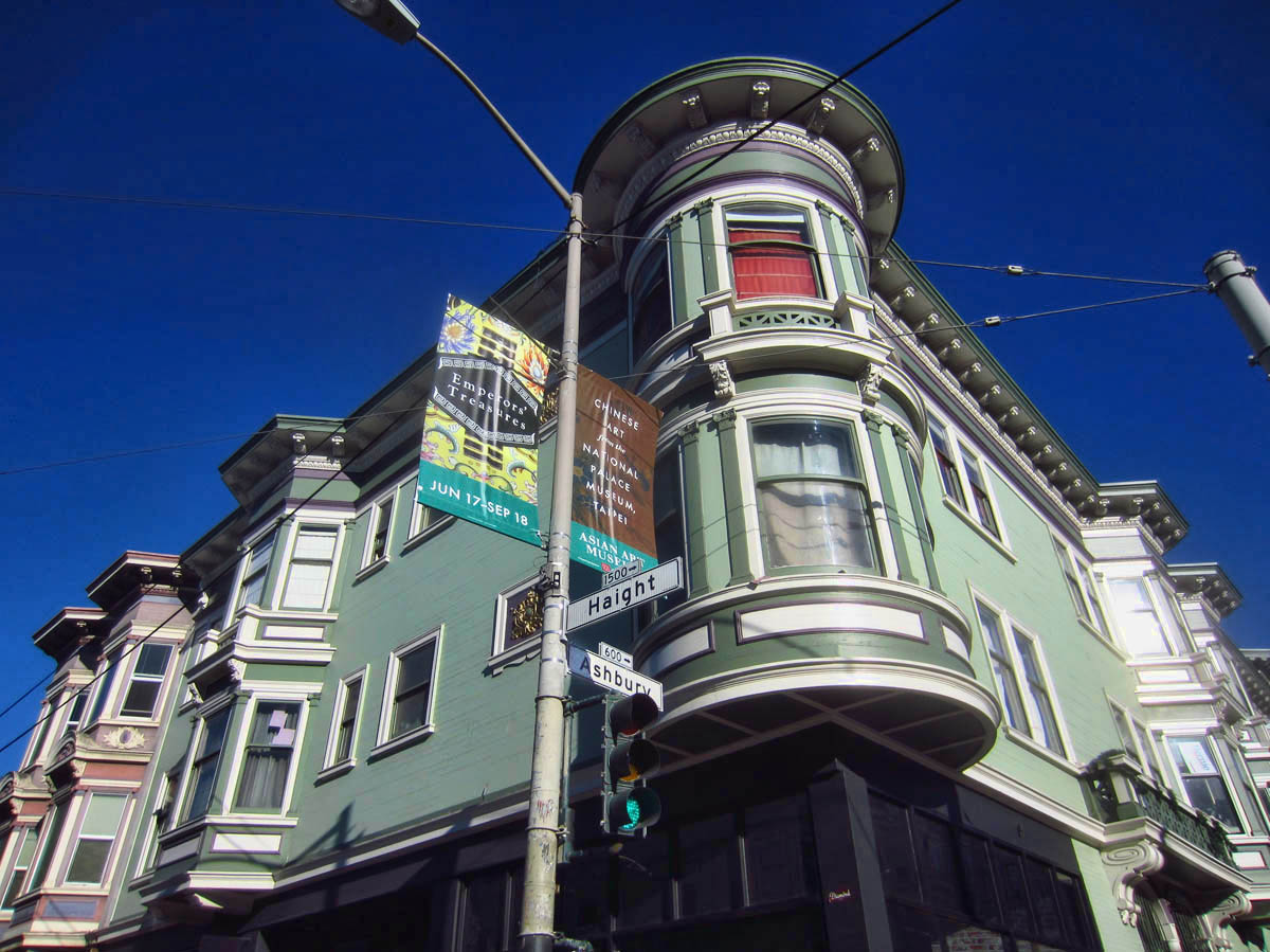 The famous corner of Haight Ashbury.