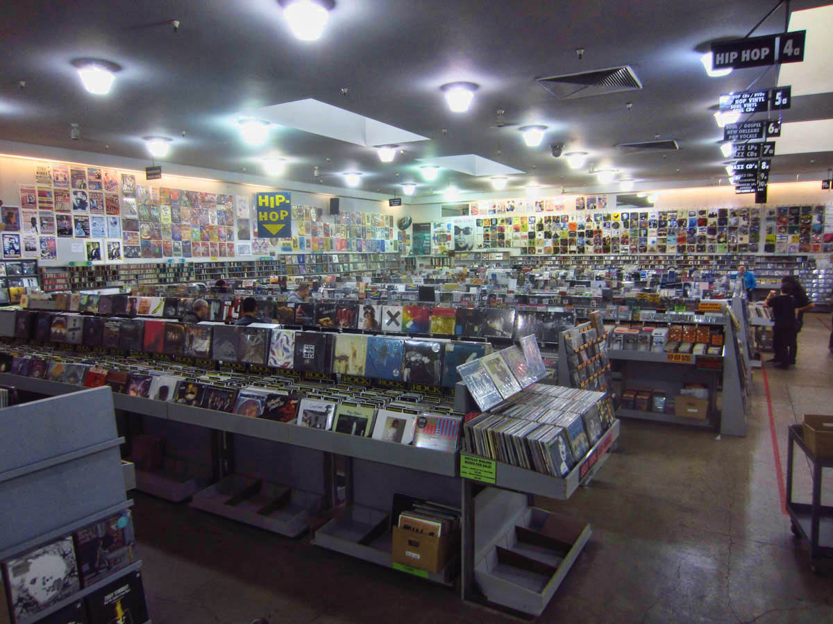 Every record I ever owned can be found in this 20,000 sq ft music store. This is only half. The other side is the same size.