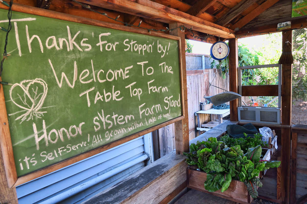 "There is a huge push toward ""locally grown"" in Point Reyes Station."