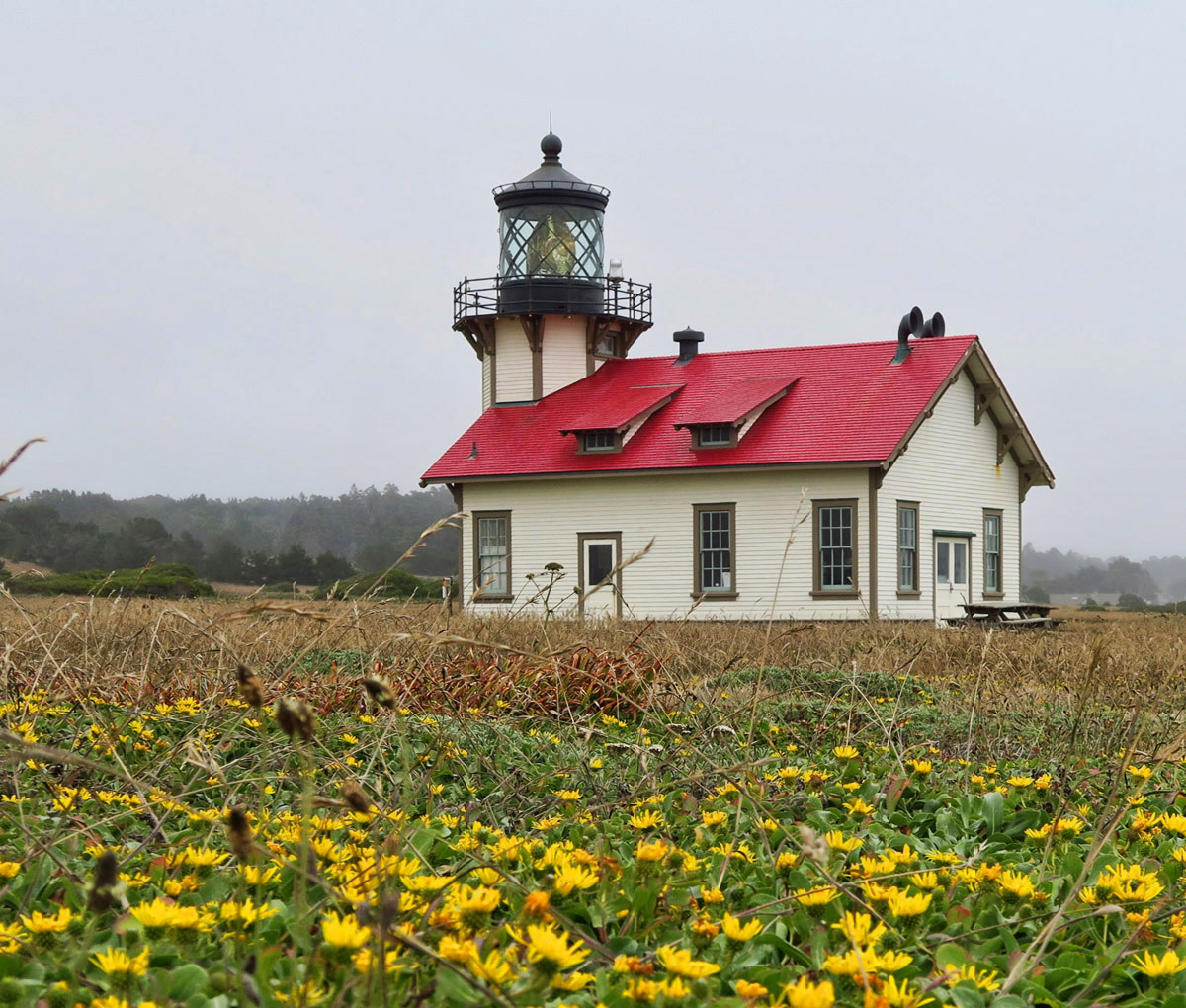In between Fort Bragg and Mendocino is also the charming Point Cabrillo Light Station, built in 1906 and recently restored.