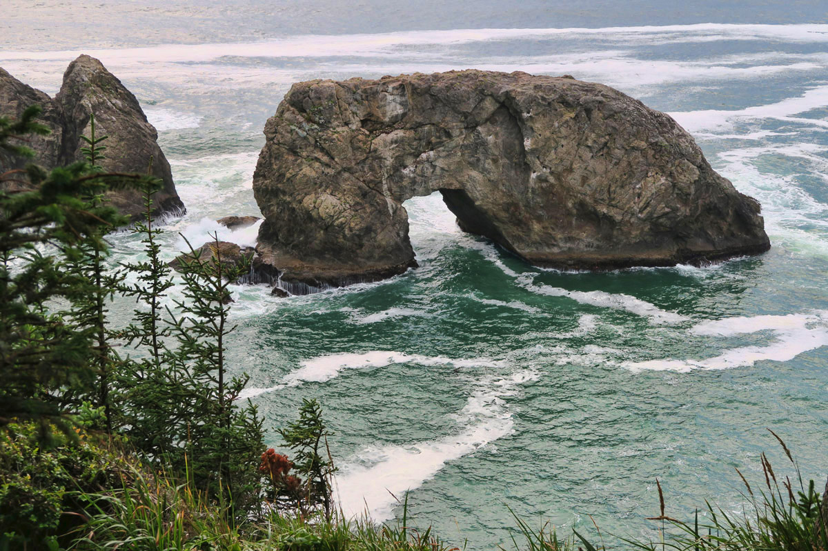 Arch Rock along the Samuel Boardman Scenic Corridor.