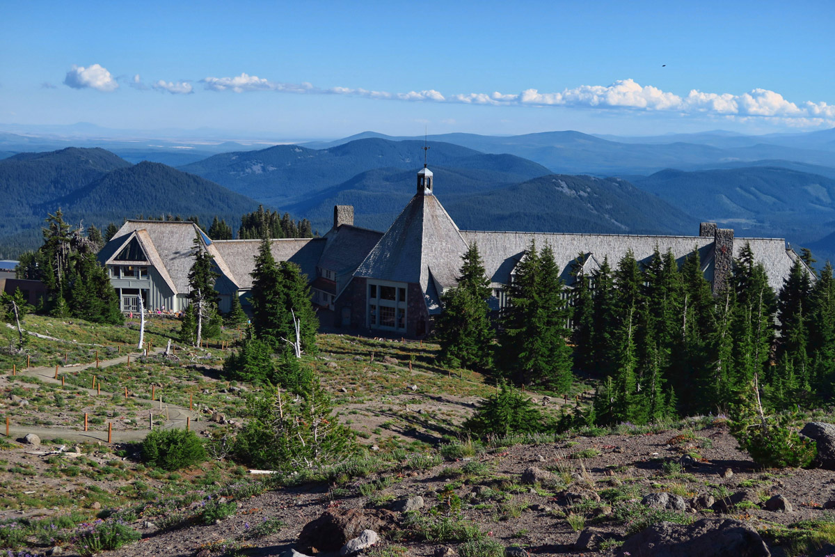 Beautiful Timberline Lodge near Mt Hood, built 1937.