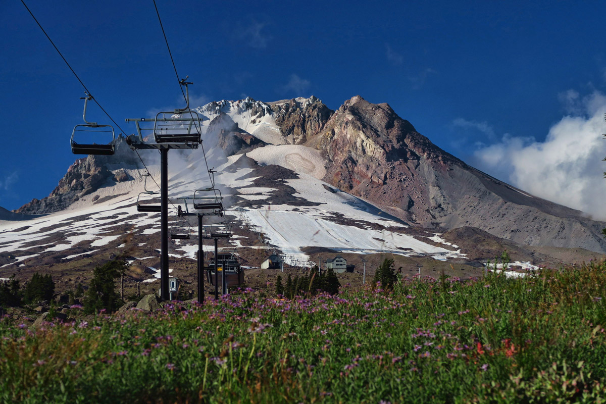 Timberline offers the only year-round lift-served skiing in North America.