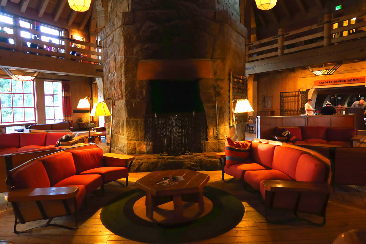 Interior of the Timberline Lodge