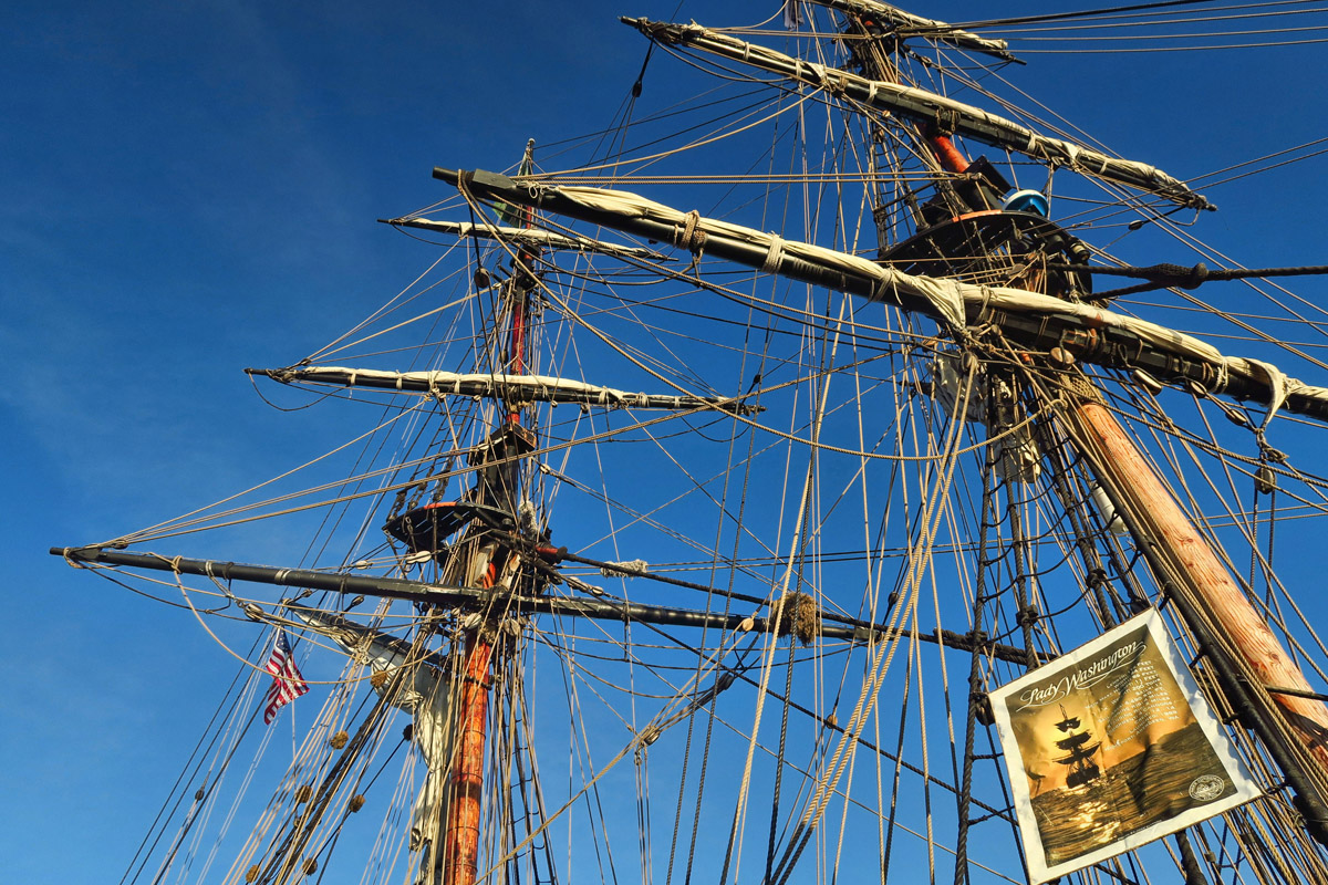 The Lady Washington. Both walk-on and sailing tours are available.