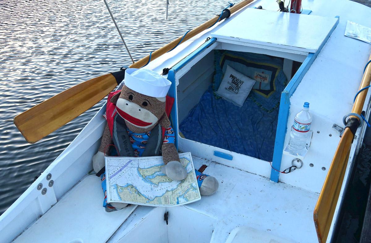 This skipper made me think of Karen of Sock Monkey Trekker blog fame.