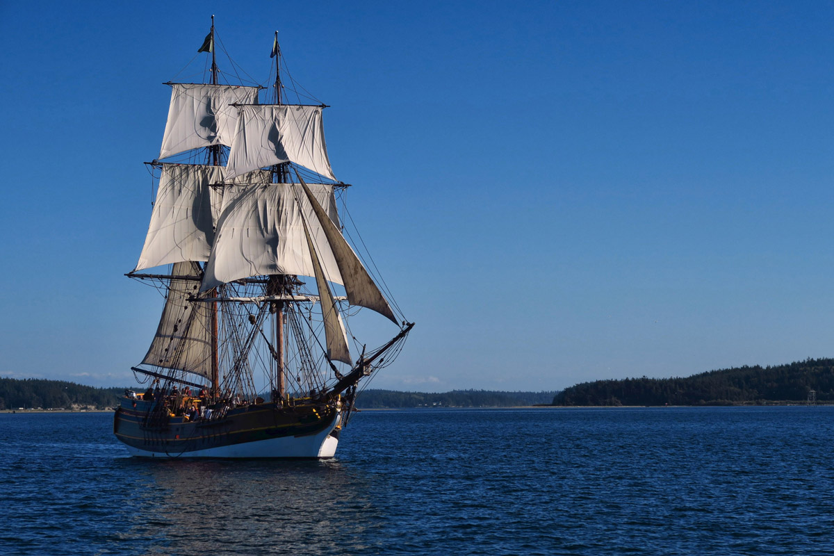 The Lady Washington, replica of an 18th century, 90 ton Brig.