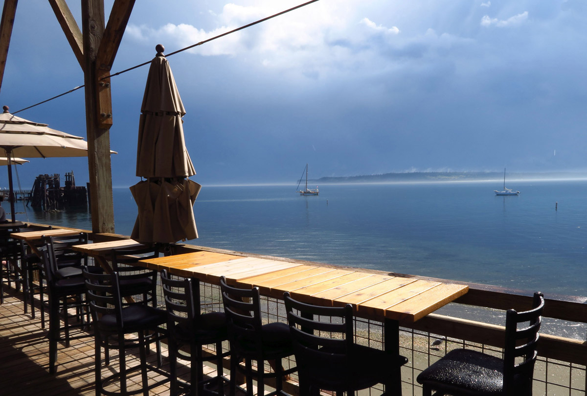 The little Siren's Bar overlooks Port Townsend Bay.