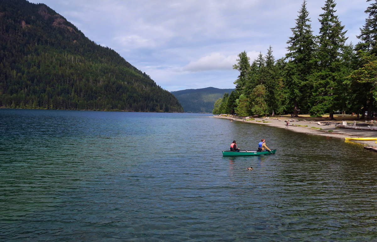 Lake Crescent, glacially carved lake in Olympic National Park.