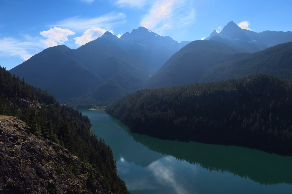 Diablo Lake is part of the Skagit River Hydroelectric Project and managed by Seattle City Light.