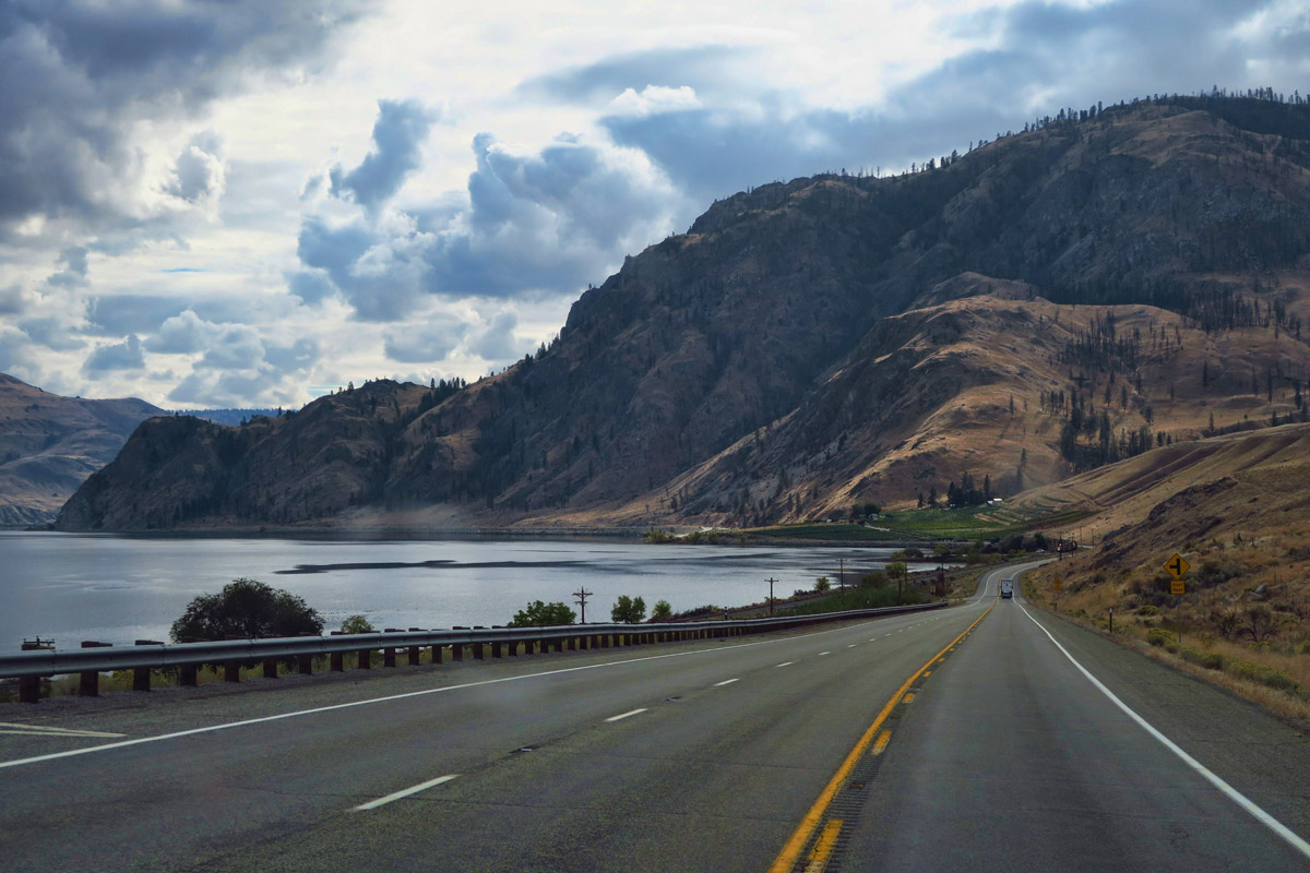 Driving through the beautiful Methow Valley.