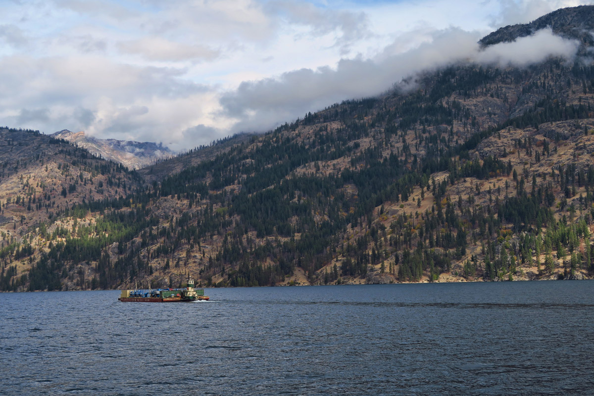 All vehicles, construction materials, equipment, etc. must be transported to Stehekin via barge.