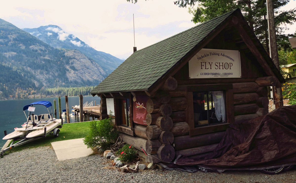 The Fly Shop is a one-stop shop in Stehekin, offering fly fishing tours, boat rentals, log cabin rentals, etc.