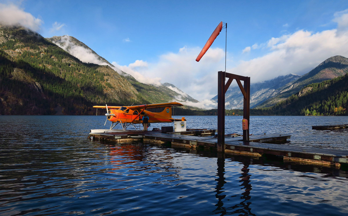 This adorable little float plane will take you back to Chelan for $79. The ride is about an hour...