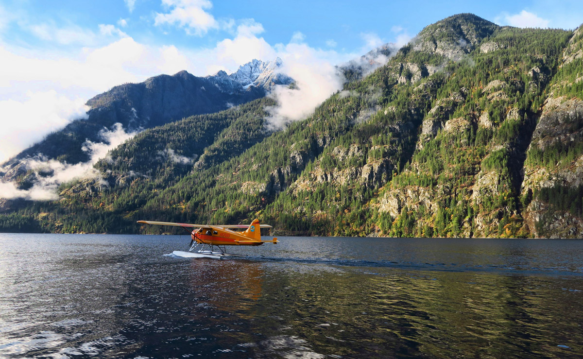 """Fun to watch him take off and land on the lake. I told him, """"I think you've got just about the best office on the planet."""""""