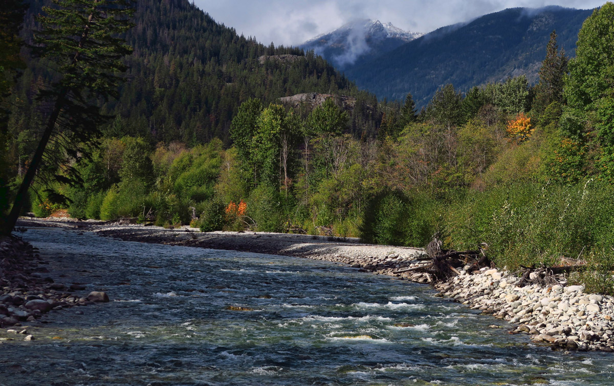 The beautiful wild and scenic Stehekin River.