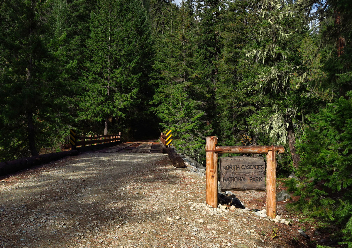 The gravel road extends 2 miles beyond the park boundary.