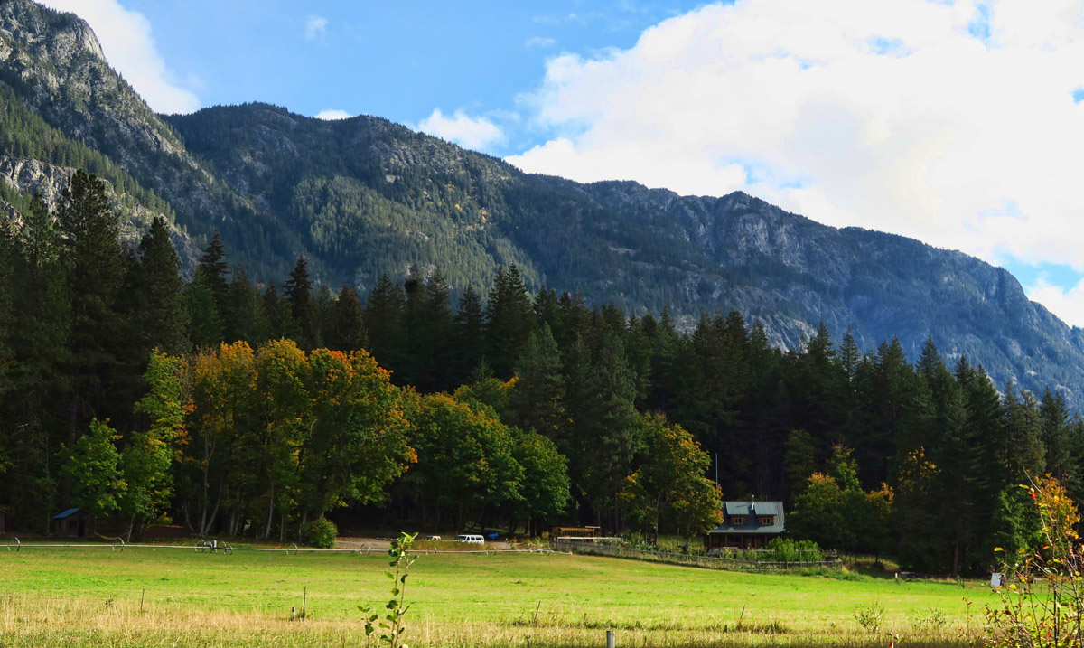 "The Stehekin Valley Ranch offers ""glamping,"" or tent cabins."