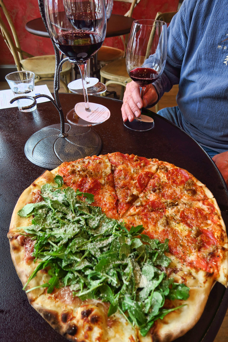 """We couldn't agree on a pizza type, so the chef indulged our request for """"half and half."""""""