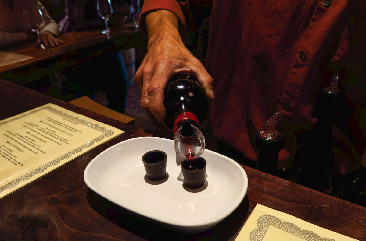 Port wine, served in chocolate shot glasses. Now that's how to celebrate a birthday!