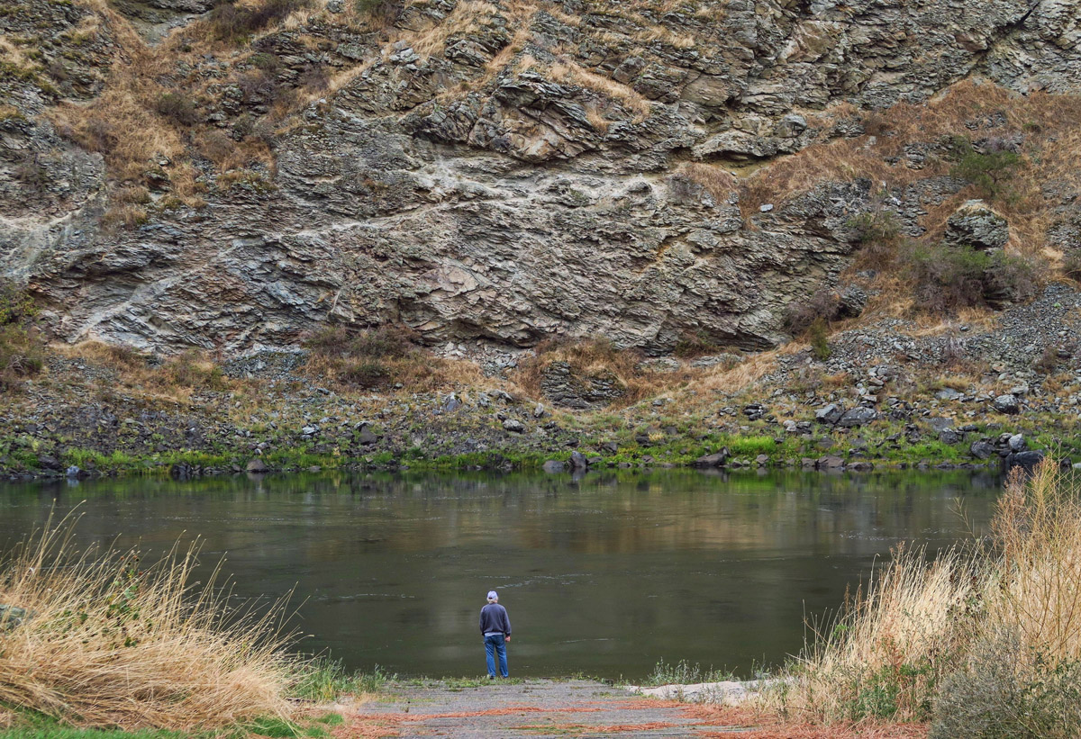 Right on the Salmon River, this ends up being one of our favorite camping spots.
