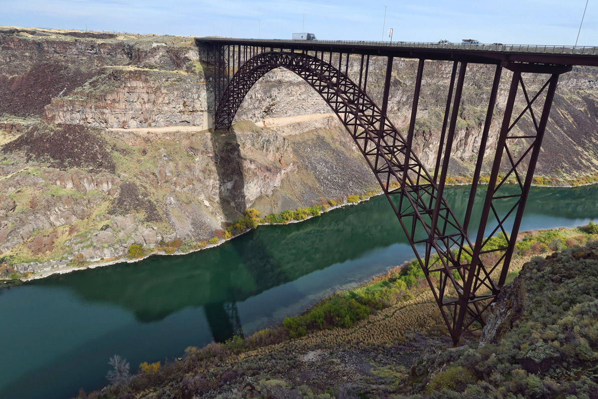 Perrine Bridge, original built in 1927 was the highest in the world. Replaced in 1976.