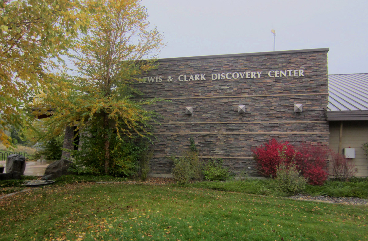 Impressive Lewis and Clark Discovery Center is on the State Park grounds.