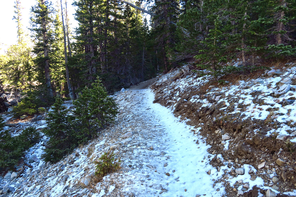 "This hike typically rated ""easy"" turns treacherous overnight as melted snow re-freezes."