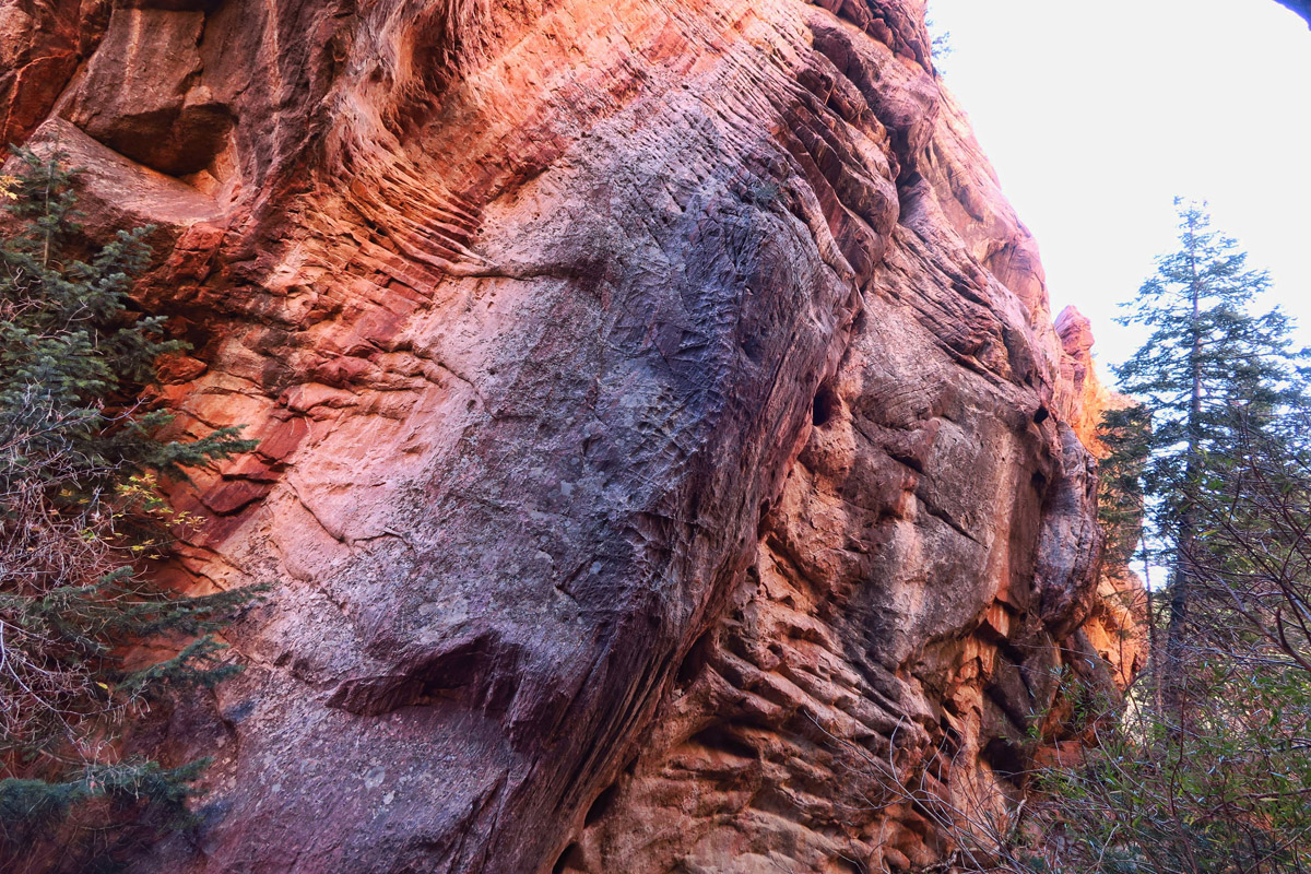 Canyon walls start to close in.