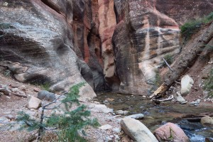 Entrance to the first slot canyon