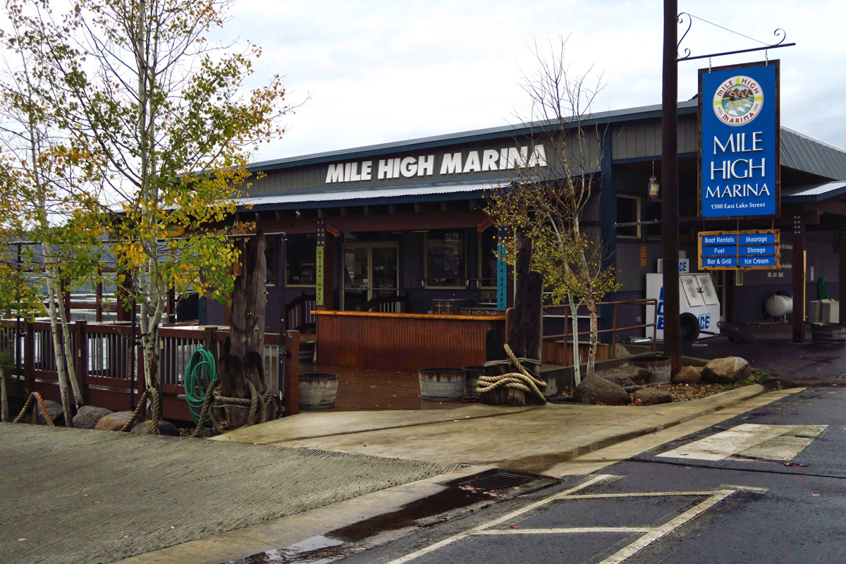 "Gotta love a place with a ""Mile High Marina!"""