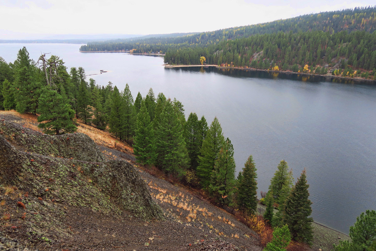 Payette Lake from the Osprey Point lookout.