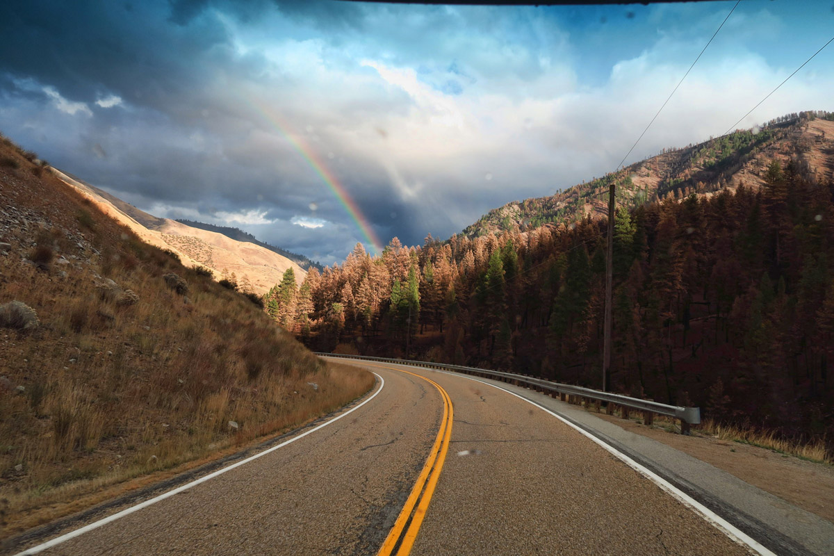 I've seen more rainbows along Idaho Scenic Byways than any place else.