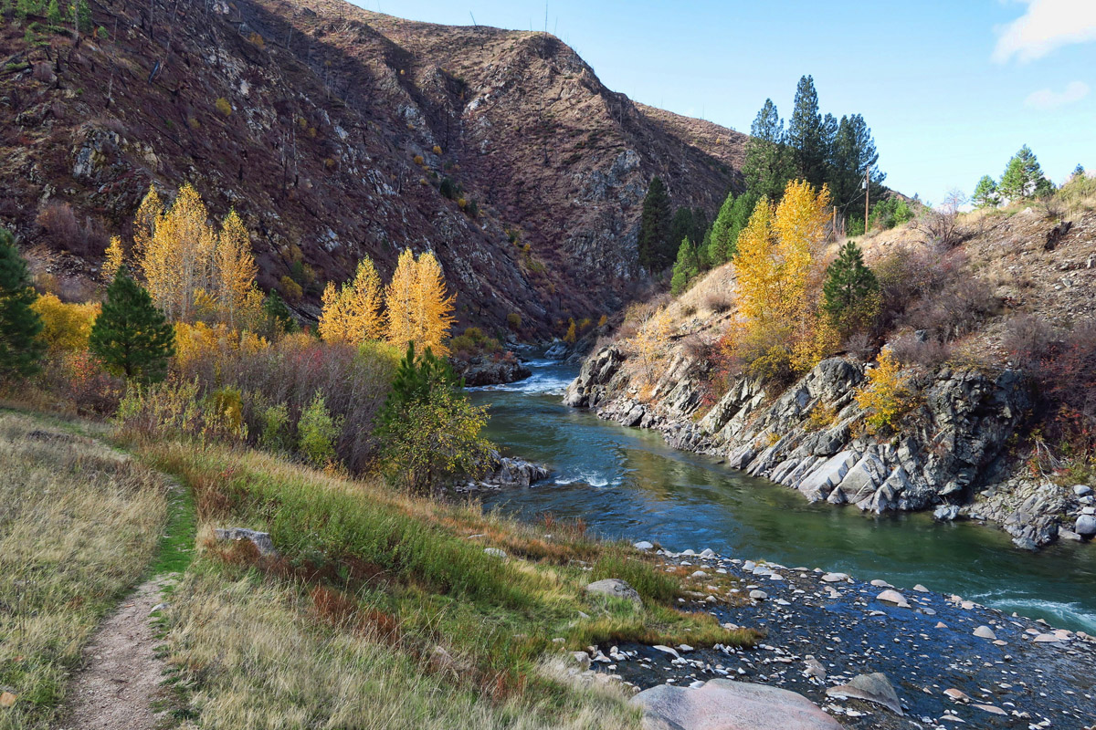 Along the South Fork of the Payette River is Kirkham Hot Springs and Campground.