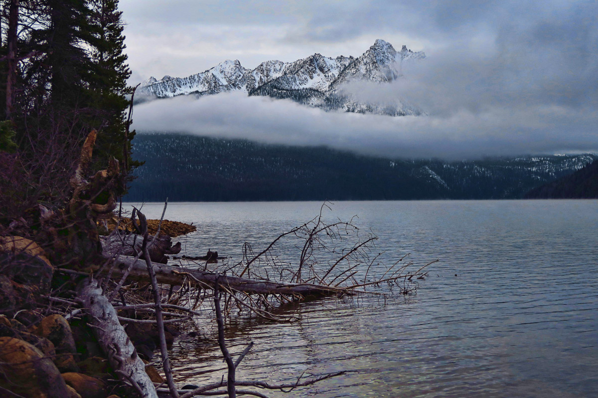 First early morning in Sockeye Campground looking very wintery!